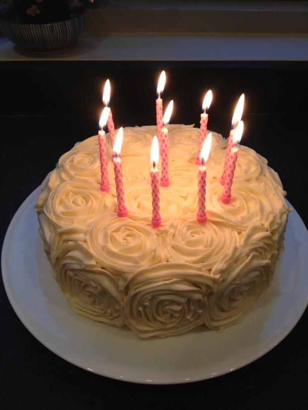 rose birthday cake madebyjayne