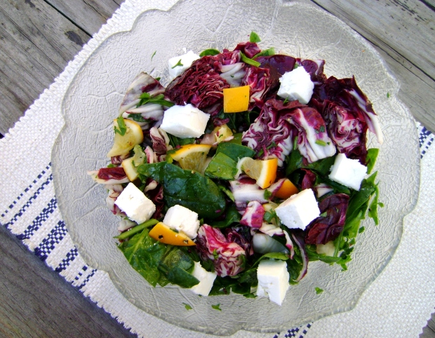 Meyer lemon and Radicchio salad madebyjayne.com
