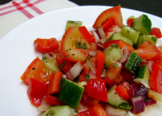 Gazpacho salad madebyjayne.com
