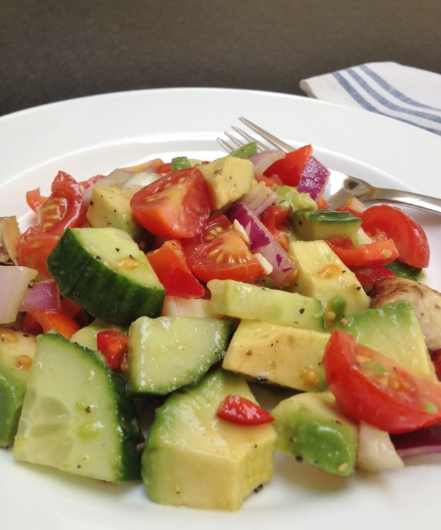 Avocado Salsa Salad madebyjayne.com