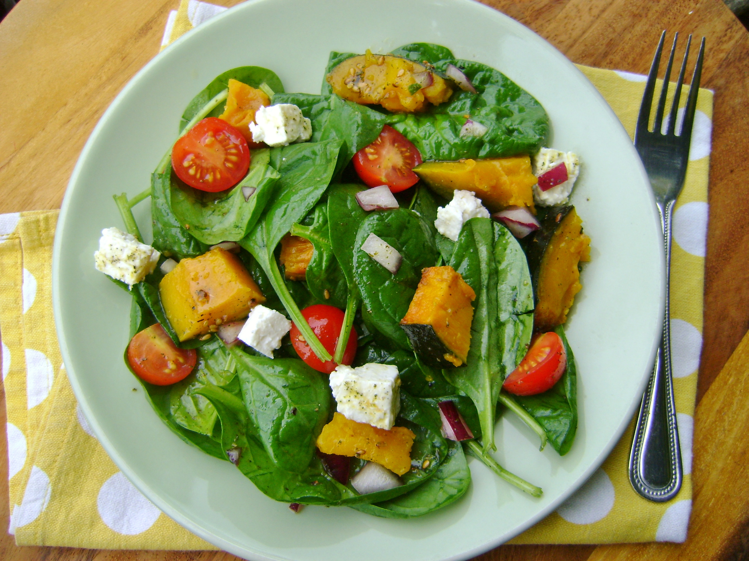 Roasted Pumpkin Salad with a Za'atar dressing | Made by Jayne