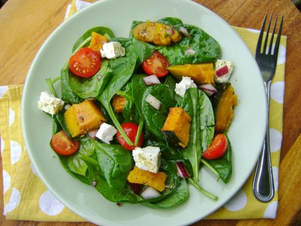 Roasted Pumpkin Salad ith a Za'atar Dressing madebyjayne.com